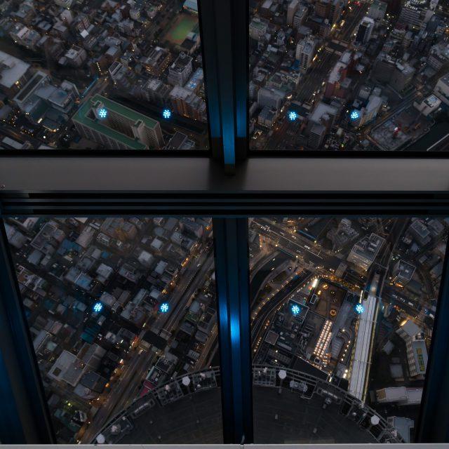 まるで宇宙要塞のよう~天望回廊 in 東京スカイツリー